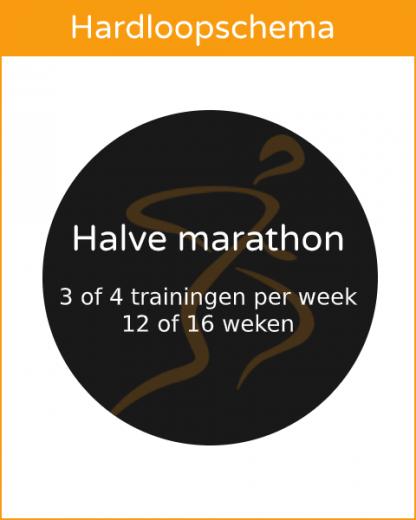 ProRun hardloopschema halve marathon